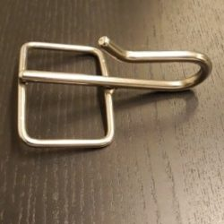 Nøkkelholder i rustfritt stål.