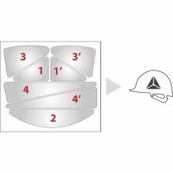 Reflekterende klistermerke til hjelm